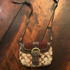 Coach cross body purse